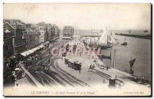 Le Treport - Le Quai Francois I - Old Postcard