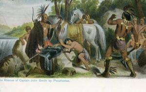 VA - Historic Jamestown - The Rescue of Capt. John Smith by Pocahontas