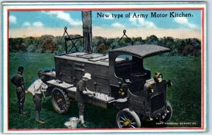 1910s WWI Military Postcard New Type of Army Motor Kitchen Active Army Life