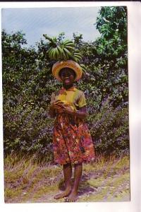 Black Woman Balancing Bananas, Fruit Vendor, Jamaica, Novelty Trading