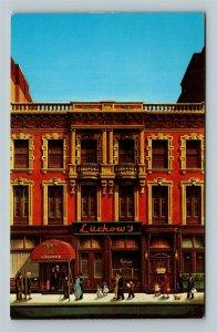 New York City NY, Luchow's Restaurant, Chrome New York Postcard
