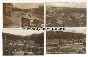 tq0104 - Early Views of Central, Pleasure and Bournemouth Gardens - 4 Postcards