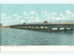 Unused Pre-1907 HARVARD BRIDGE Boston Massachusetts MA Q1312