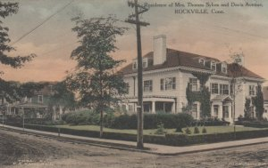 ROCKVILLE, Connecticut, 1900-10s; Residence of Mrs. Thomas Sykes & Davis Avenue