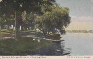 Minnesota Albert Lea Fountain Lake And Driveway