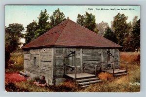 Mackinac Island MI-Michigan, Fort Holmes, Vintage Postcard