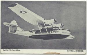 WW II - OFFICIAL U.S, NAVY PHOTO - PATROL BOMBER 3-P-12 - CIRCA WWII