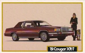 Advertising 1981 Mercury Cougar XR-7