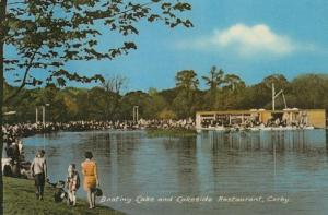 Restaurant at the Boating Lake Northampton 1970s Corby Postcard