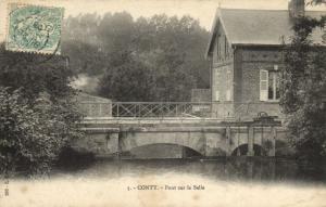 CPA CONTY - pont sur la Selle (121417)
