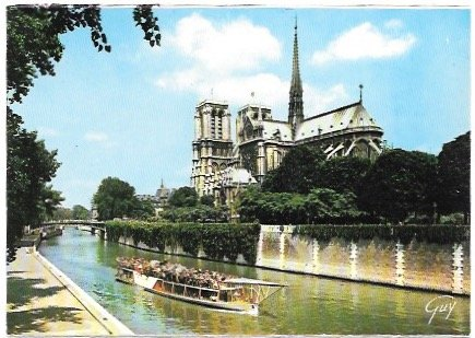 Paris. Cathedral - Notre-Dame.  Nice.  Unused.