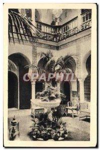 Postcard Old Summer Palace Algiers Moorish Lounge