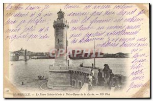 Old Postcard Marseille Le Phare Sainte Marie