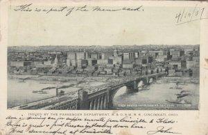ST. LOUIS, Missouri, 1907 ; Eads Bridge and Business Section