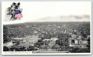 Washington DC~Birdseye North from Monument~c1905 Arthur Livingston Lady Liberty