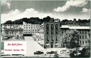 Excelsior Springs, Missouri Postcard THE BALL CLINIC Street View 1940s Unused