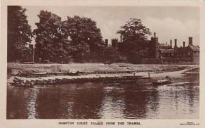 England London Hamton Court Palace From The Thames Real Photo