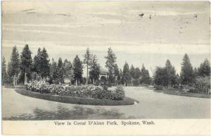 D/B View in Coeur D'Alme Park Spokane Washington WA 1907