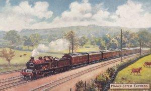 UK: Manchester Express , Railroad Train , 1900-10s6 : TUCK 9226