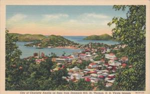 St Thomas City Of Charlotte Amalie Seen From Denmark Hill Curteich