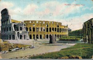 Italy Roma Anfiteatro Flavio Advertising postcard 02.90