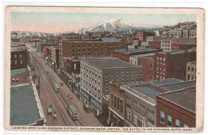 Panorama Business District Butte Montana 1920c postcard