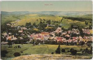 c1910 TROY Pennsylvania Pa Postcard BIRDSEYE VIEW Homes