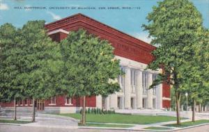 Michigan Ann Arbor Hill Auditorium University Of Michigan 1949