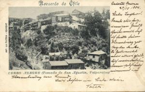 chile, VALPARAISO, Cerro Alegre, Tomado de San Agustin (1904) La Patria