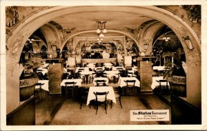 Vintage Real Photo Postcard RPPC The States Resturant Int. San Francisco, CA