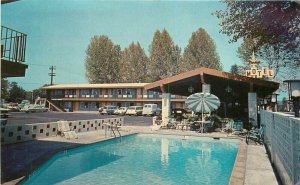 California 1950s Shasta Redding Postcard Stardust Motel Howell pool 6566