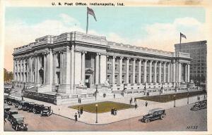 Indianapolis Indiana~U.S Post Office~1920 Postcard