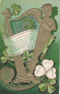 SAINT-PATRICK´S DAY; Erin Go Bragh, Gold Harp, Dear Irish Memories, Poem, PU...