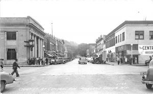 Richland Center WI Court Street View Store Front's RPPC Postcard