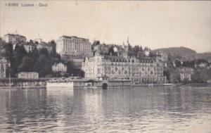 Switzerland Luzern Quai 1913