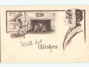 Divided-Back PRETTY WOMAN Risque Interest Postcard AA7868