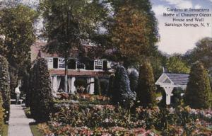 New York Saratoga Springs Gardens At Inniscara Home Of Chauncey Olcott House ...