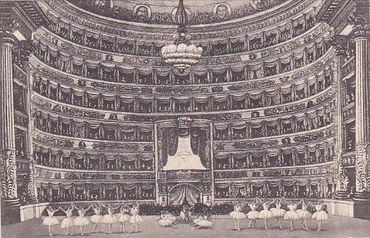 Italy Milano Interno della Scala Theatre