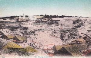 Tin Mining Kuala Lumpur Malaysia Sungei Besi Miner Antique Postcard