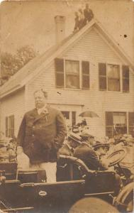 F37/ Interesting Real Photo RPPC Postcard President Taft in Car Parade c1910   4