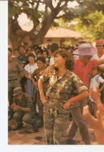 Postal 024303 : Nicaragua en medio de las dificultades sabe ser alegre