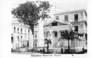 Habana Cuba Columbus Memorial Chapel Real Photo Antique Postcard J52748