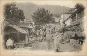 Bougie Algeria Une Rue Arabe c1910 Postcard
