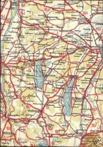 germany, STARNBERG BRUCK, Bavaria, MAP postcard (1940s)