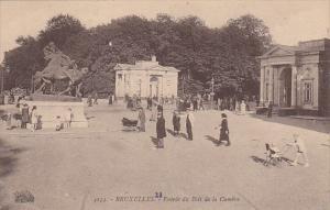Belgium Brussels Entree du Bois de la Cambre 1923