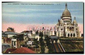 Old Postcard Paris View sue the Sacre Coeur of Montmartre