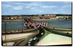 Postcard Old Bridge Bordeaux on the Garonne Facade of Queyries Quays