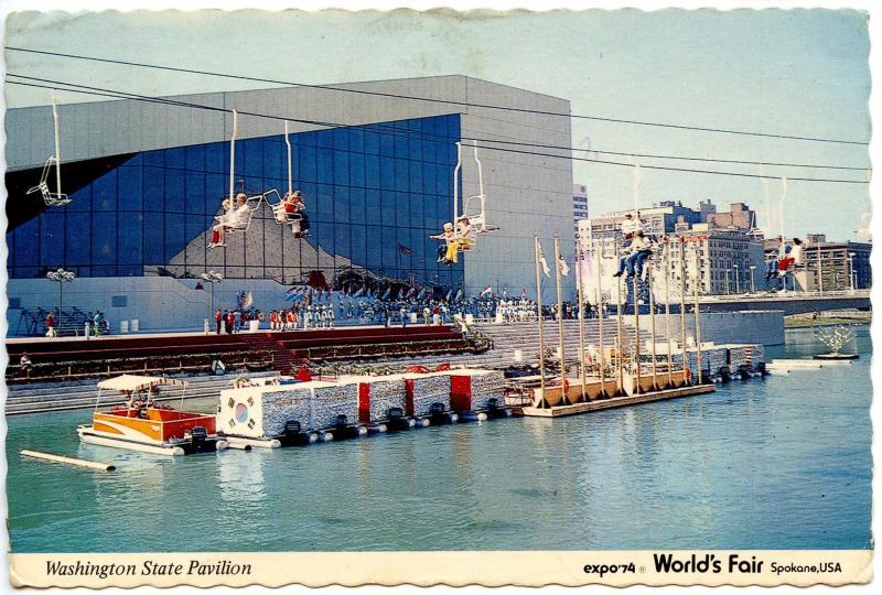 WA - Spokane, 1974. Expo '74 World's Fair. Washington State Pavilion