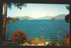 Lake George, New York/NY Postcard,  Sagamore Hotel, Adirondack Mountains