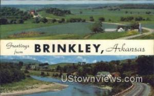 Brinkley, AR, Post Card    ;    Brinkley, Arkansas
